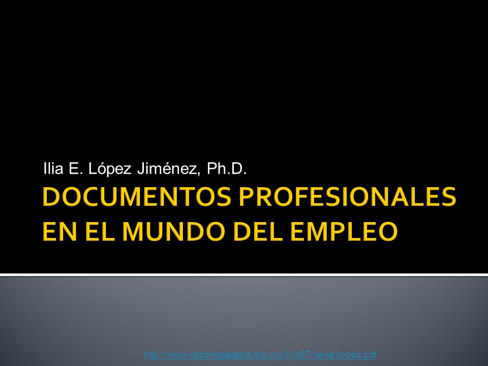 DOCUMENTOS PROFESIONALES EN EL MUNDO DEL EMPLEO