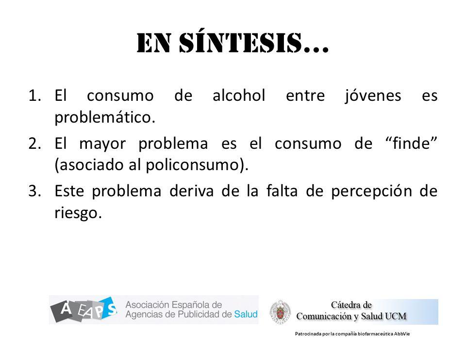 En síntesis… El consumo de alcohol entre jóvenes es problemático.