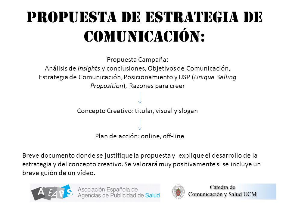Propuesta de estrategia de comunicación: