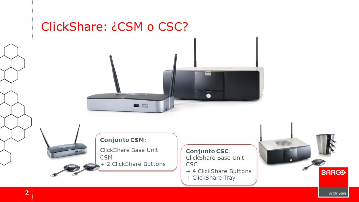 ClickShare: ¿CSM o CSC Conjunto CSM: ClickShare Base Unit CSM