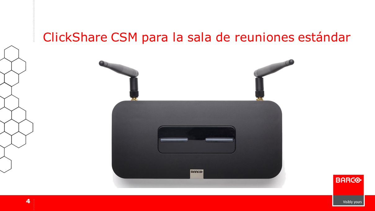 ClickShare CSM para la sala de reuniones estándar