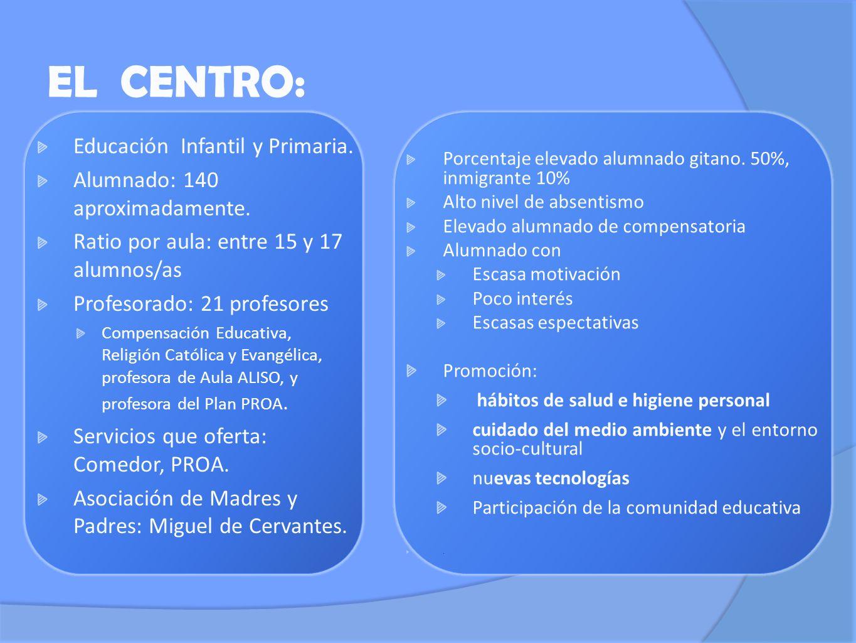 EL CENTRO: Educación Infantil y Primaria.