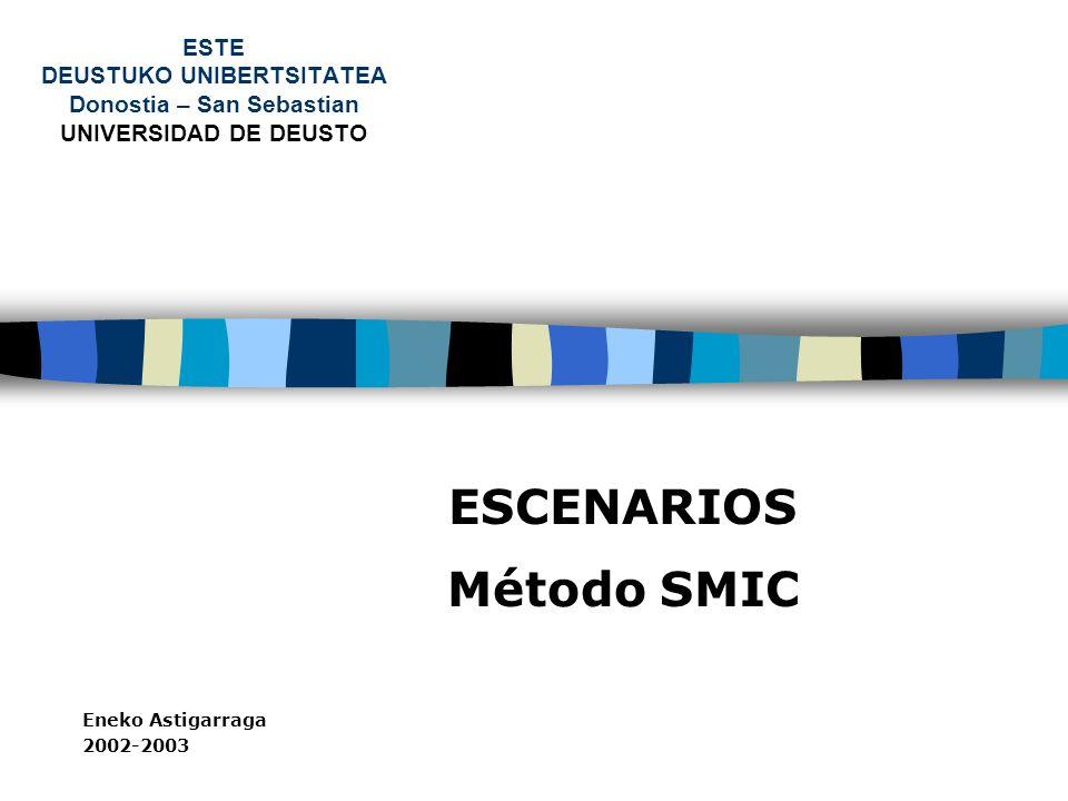 ESCENARIOS Método SMIC