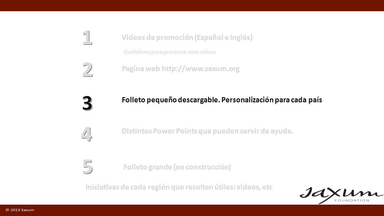 1 2 3 4 5 Videos de promoción (Español e Inglés)