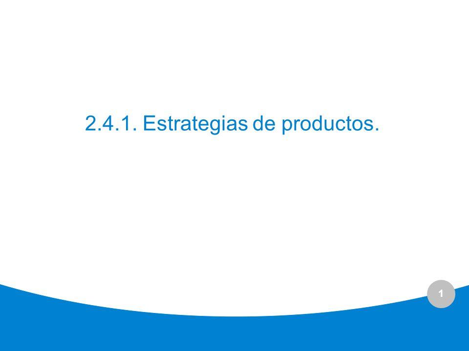 2.4.1. Estrategias de productos.