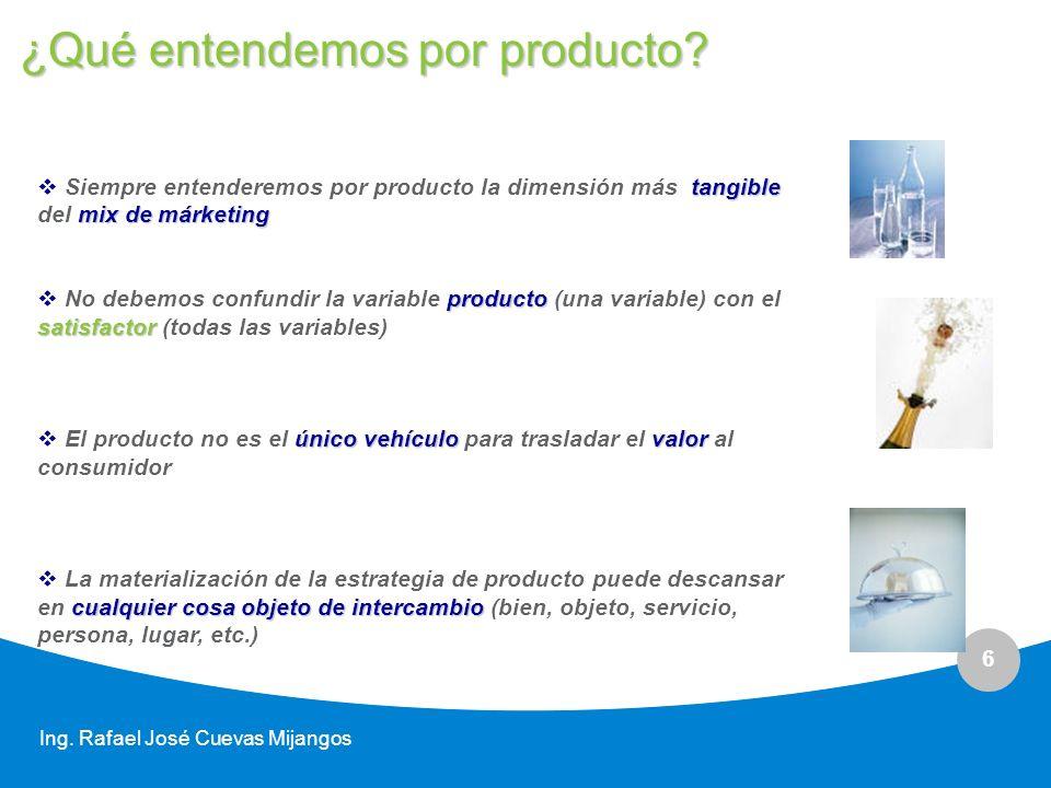 ¿Qué entendemos por producto