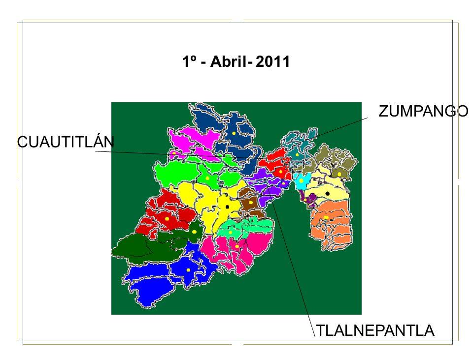 1º - Abril- 2011 ZUMPANGO CUAUTITLÁN TLALNEPANTLA