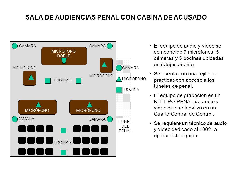 SALA DE AUDIENCIAS PENAL CON CABINA DE ACUSADO