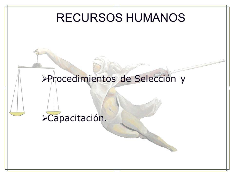 RECURSOS HUMANOS Procedimientos de Selección y Capacitación. 40