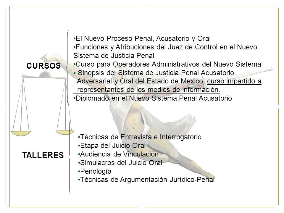 CURSOS TALLERES El Nuevo Proceso Penal, Acusatorio y Oral