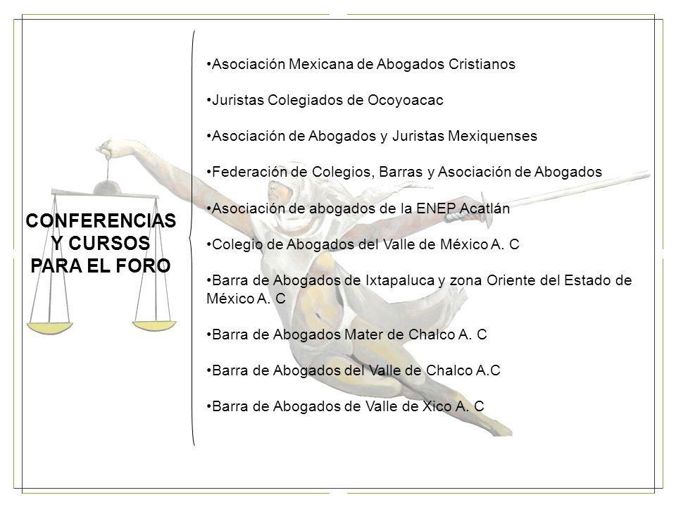 CONFERENCIAS Y CURSOS PARA EL FORO
