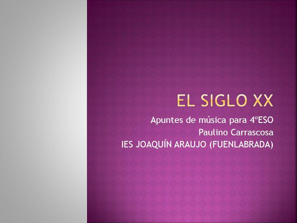 EL SIGLO xx Apuntes de música para 4ºESO Paulino Carrascosa