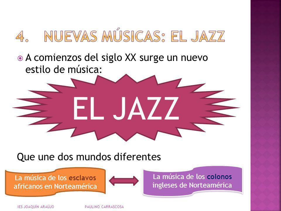 4. NUEVAS MÚSICAS: EL JAZZ