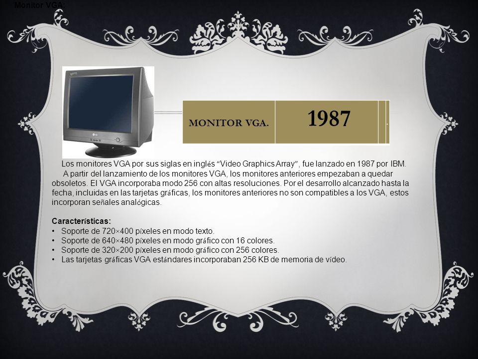 1987 MONITOR VGA. Monitor VGA: