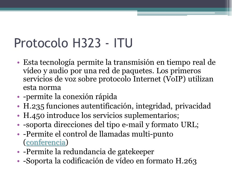 Protocolo H323 - ITU