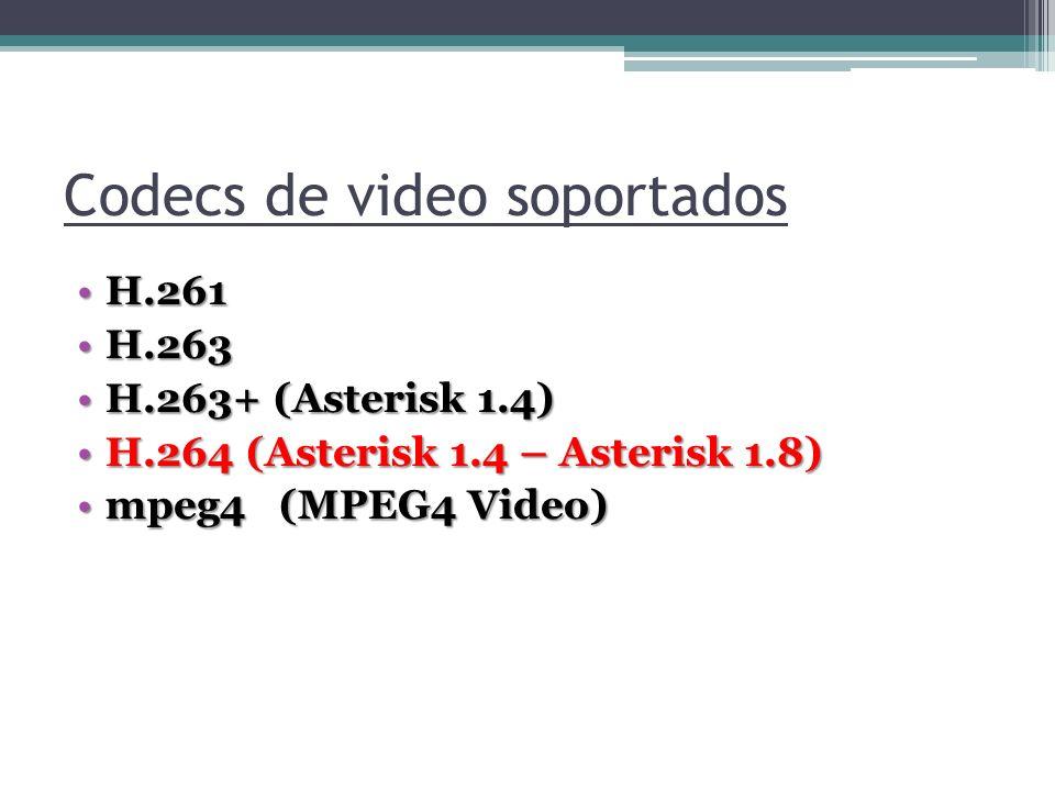 Codecs de video soportados