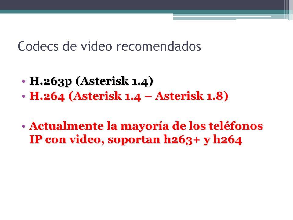 Codecs de video recomendados