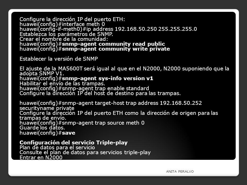 Configure la dirección IP del puerto ETH: