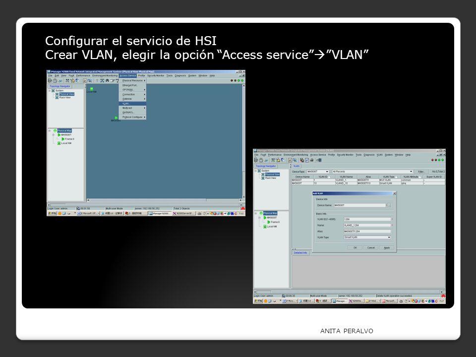 Configurar el servicio de HSI