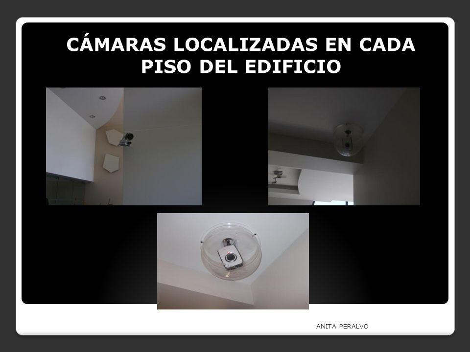 CÁMARAS LOCALIZADAS EN CADA PISO DEL EDIFICIO