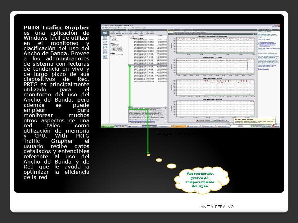 PRTG Traficc Grapher es una aplicación de Windows fácil de utilizar en el monitoreo y clasificación del uso del Ancho de Banda. Provee a los administradores de sistema con lecturas de tendencia en vivo y de largo plazo de sus dispositivos de Red. PRTG es principalmente utilizado para el monitoreo del uso del Ancho de Banda, pero además se puede emplear para monitorear muchos otros aspectos de una red tales como utilización de memoria y CPU. With PRTG Traffic Grapher el usuario recibe datos detallados y entendibles referente al uso del Ancho de Banda y de Red que le ayuda a optimizar la eficiencia de la red
