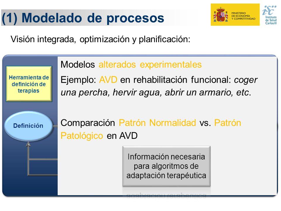 Información necesaria para algoritmos de adaptación terapéutica