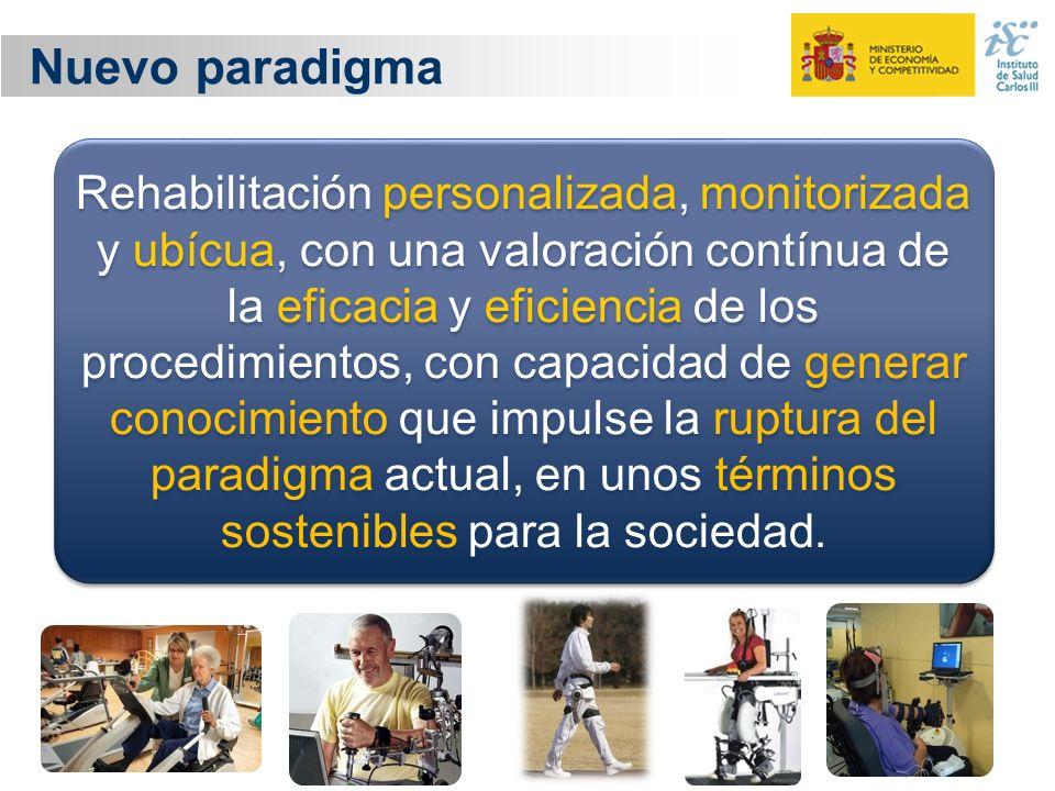 Nuevo paradigma Rehabilitación personalizada, monitorizada y ubícua, con una valoración contínua de.