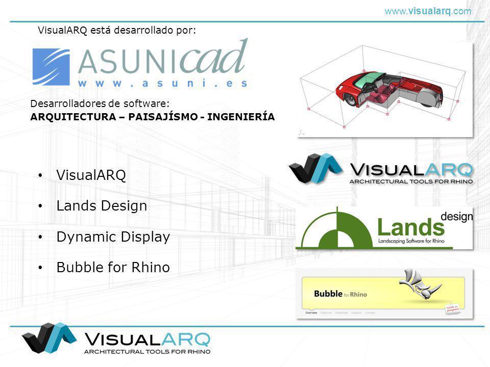 VisualARQ Lands Design Dynamic Display Bubble for Rhino