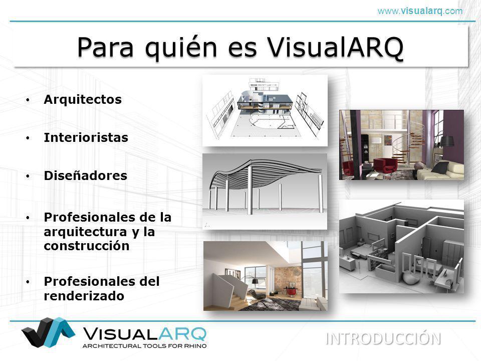 Para quién es VisualARQ