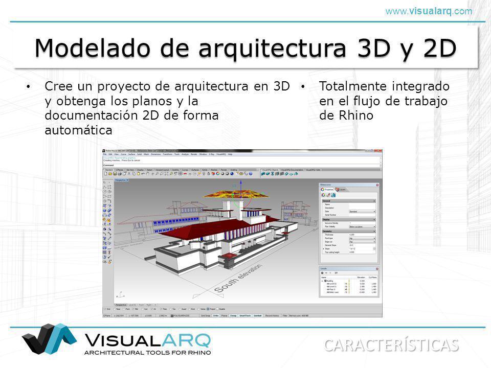Modelado de arquitectura 3D y 2D