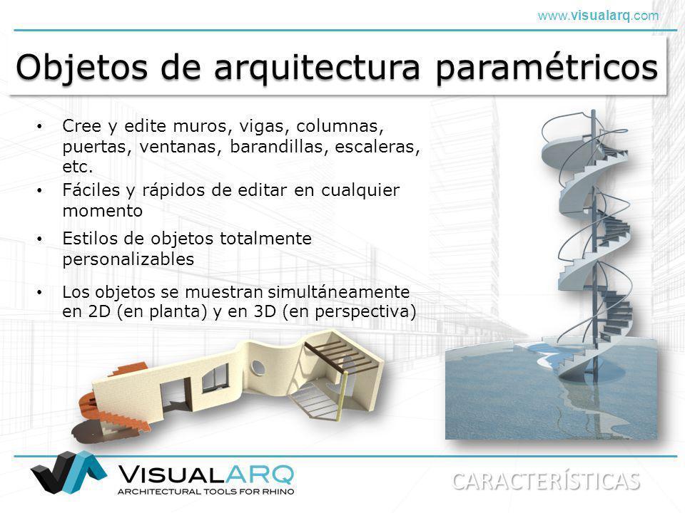 Objetos de arquitectura paramétricos