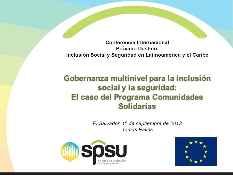 Gobernanza multinivel para la inclusión social y la seguridad: