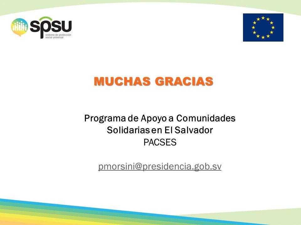 Programa de Apoyo a Comunidades Solidarias en El Salvador