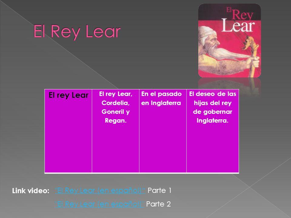 El Rey Lear El rey Lear Link video: El Rey Lear (en español) Parte 1