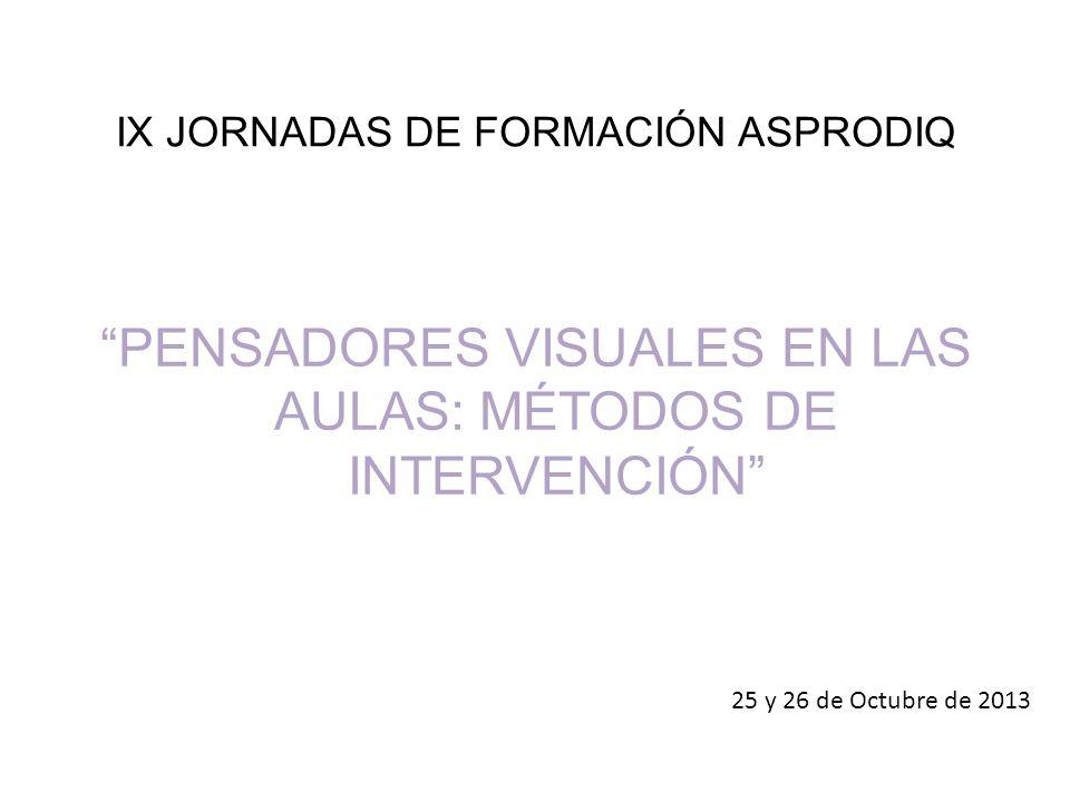 IX JORNADAS DE FORMACIÓN ASPRODIQ