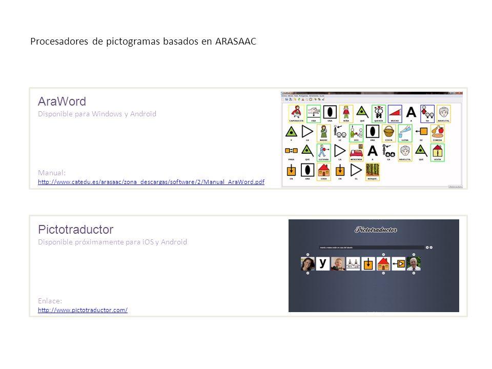 Procesadores de pictogramas basados en ARASAAC