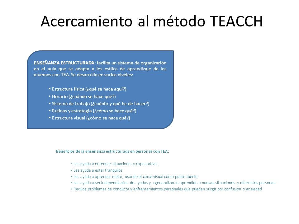 Acercamiento al método TEACCH