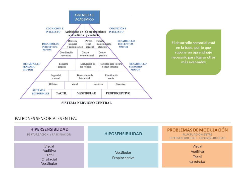HIPERSENSIBLIDAD HIPOSENSIBILIDAD PROBLEMAS DE MODULACIÓN