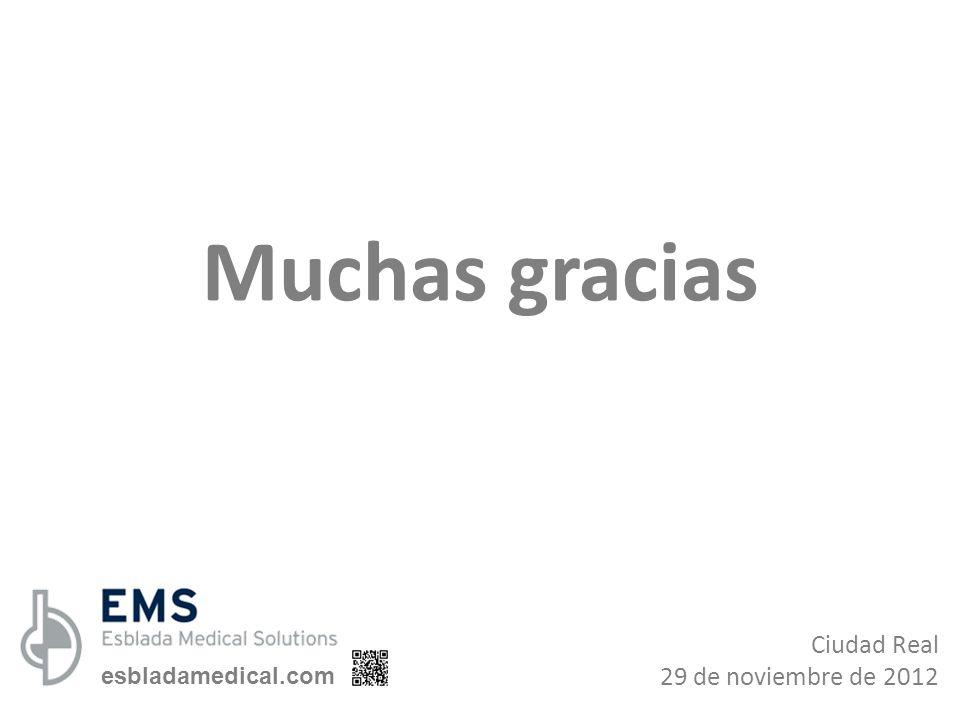 Muchas gracias Ciudad Real 29 de noviembre de 2012 esbladamedical.com