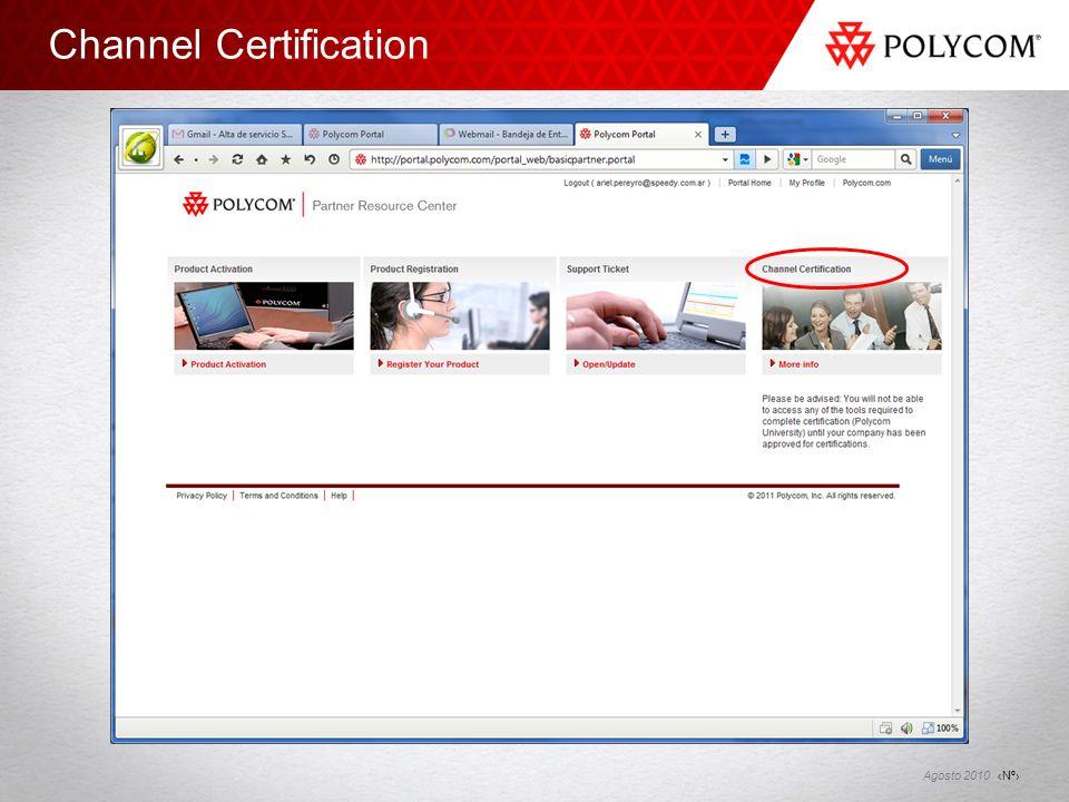 Channel Certification