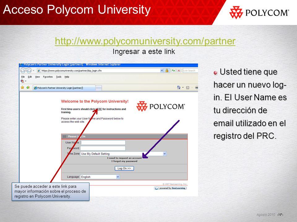 Acceso Polycom University