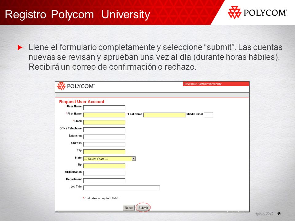 Registro Polycom University
