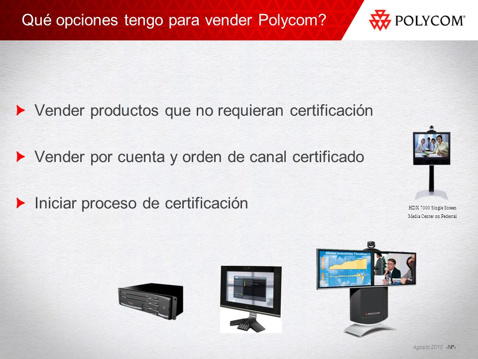 Qué opciones tengo para vender Polycom