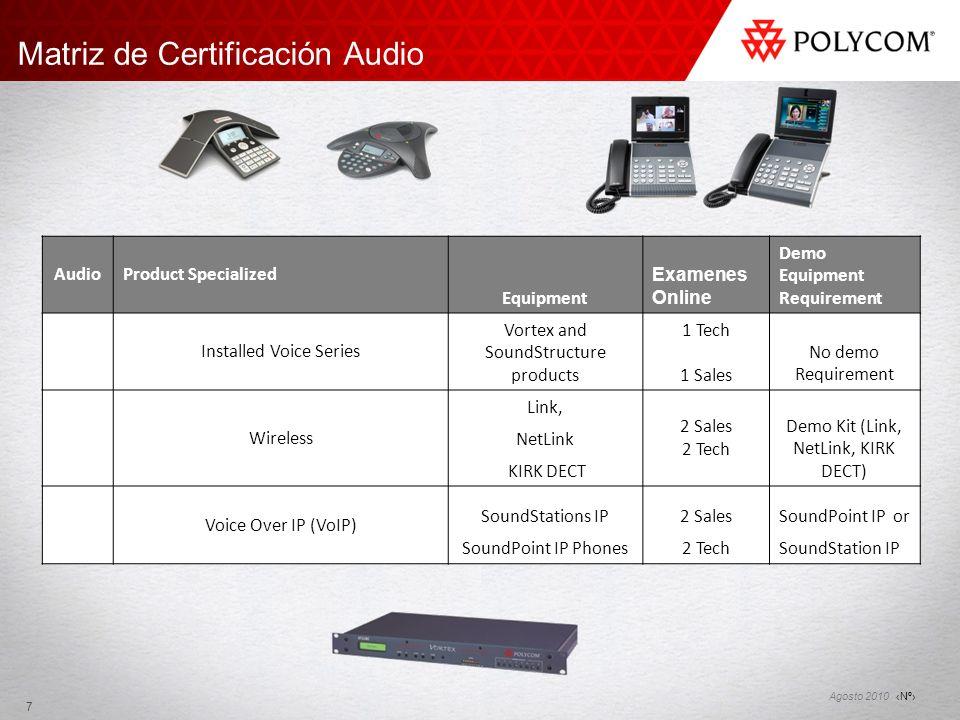 Matriz de Certificación Audio