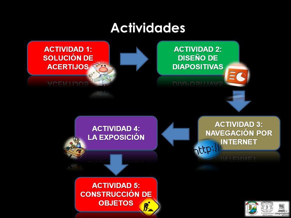 Actividades ACTIVIDAD 1: SOLUCIÓN DE ACERTIJOS