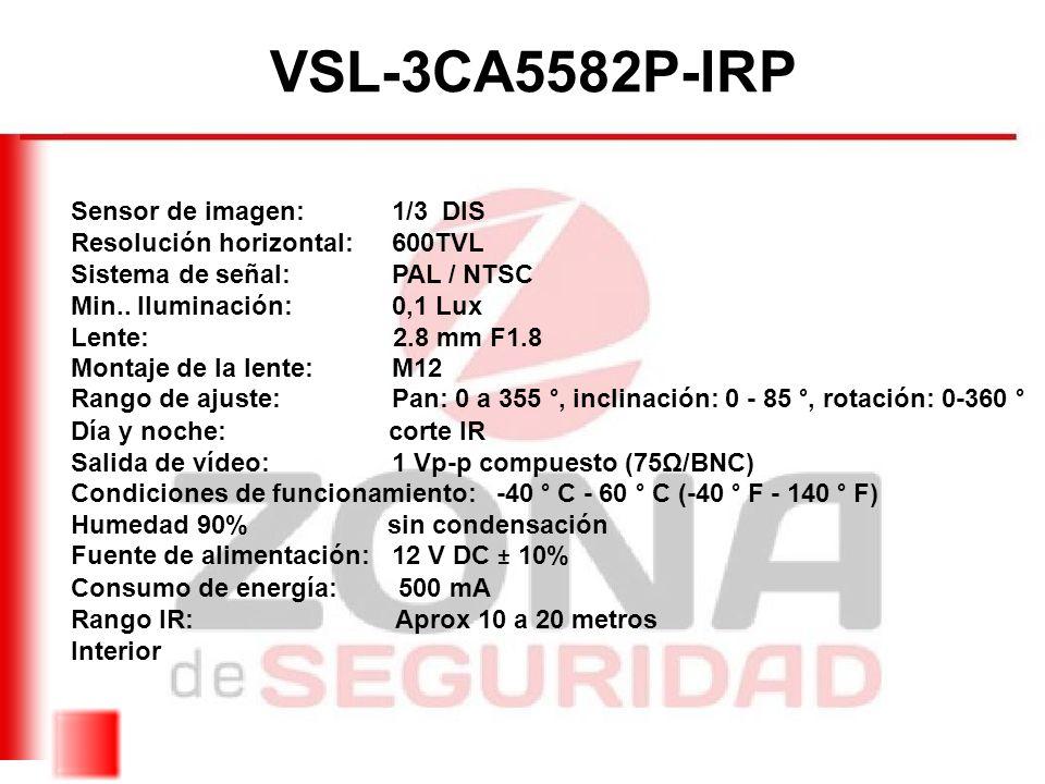 VSL-3CA5582P-IRP Sensor de imagen: 1/3 DIS