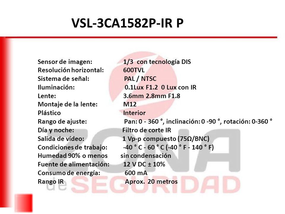 VSL-3CA1582P-IR P Sensor de imagen: 1/3 con tecnología DIS