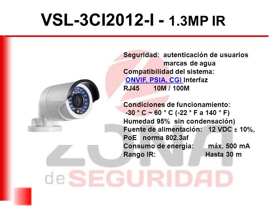 VSL-3CI2012-I - 1.3MP IR Seguridad: autenticación de usuarios
