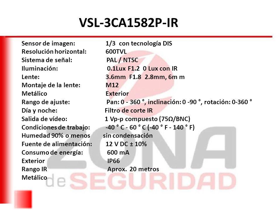 VSL-3CA1582P-IR Sensor de imagen: 1/3 con tecnología DIS