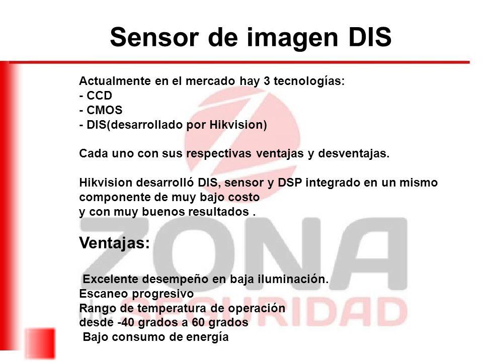 Sensor de imagen DIS Ventajas: